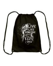 Live Like Someone Drawstring Bag thumbnail