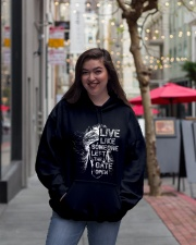 Live Like Someone Hooded Sweatshirt lifestyle-unisex-hoodie-front-2