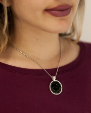 A Horse Is Your Best Friend Metallic Circle Necklace aos-necklace-circle-metallic-lifestyle-1