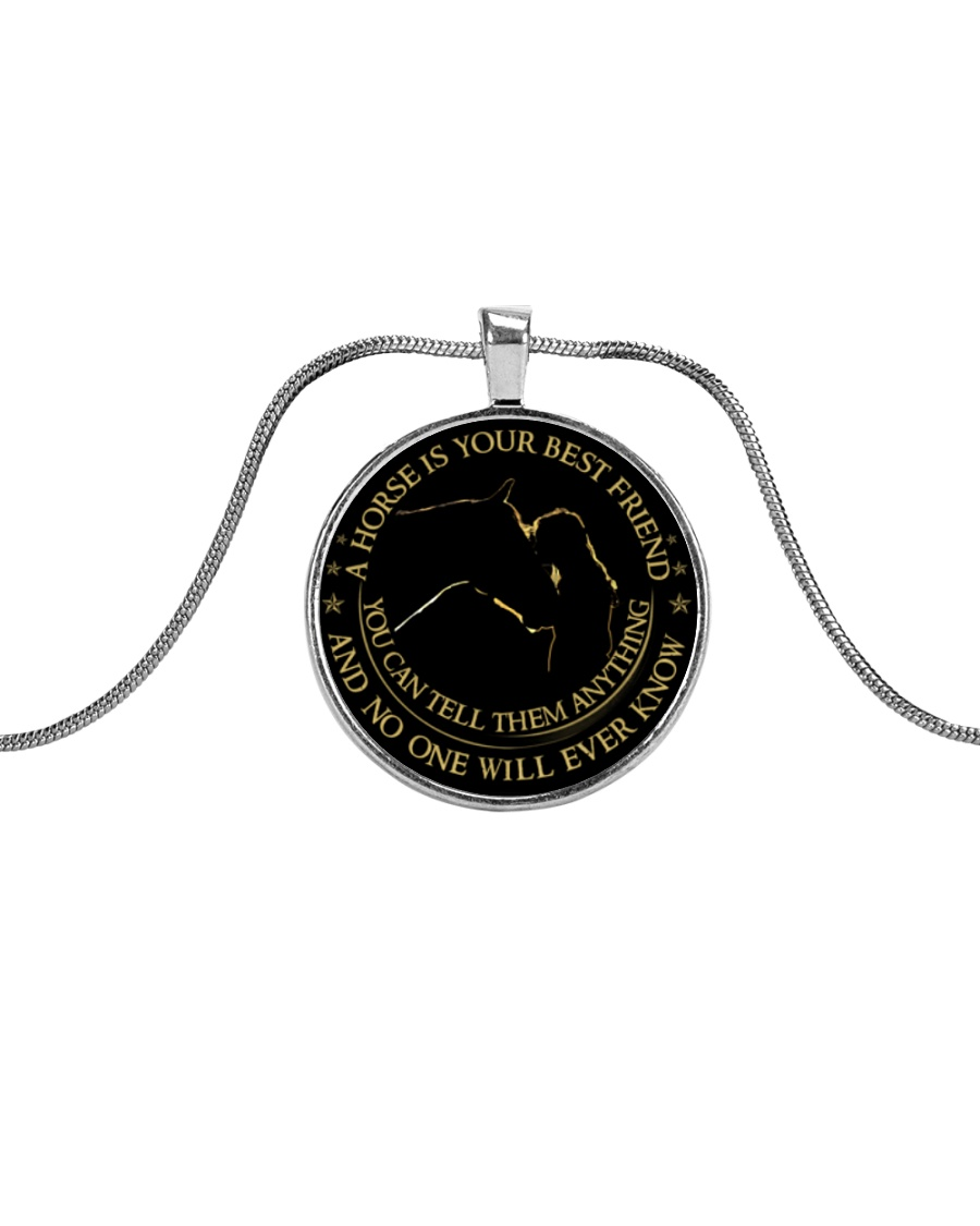 A Horse Is Your Best Friend Metallic Circle Necklace