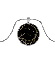 A Horse Is Your Best Friend Metallic Circle Necklace front