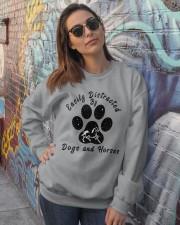 Dogs And Horses Crewneck Sweatshirt lifestyle-unisex-sweatshirt-front-3