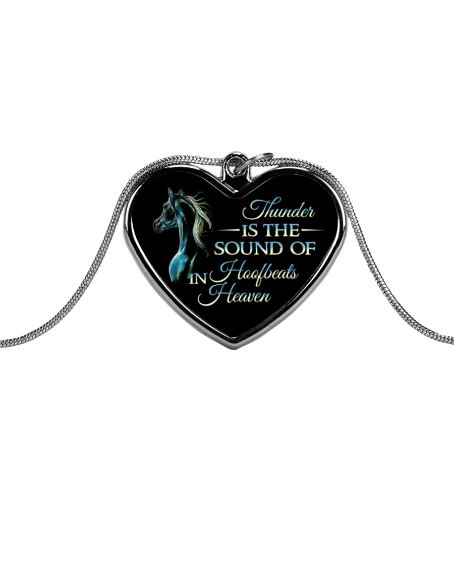 Thunder Is The Sound Metallic Heart Necklace