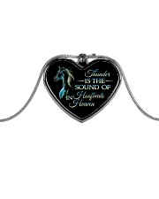 Thunder Is The Sound Metallic Heart Necklace front