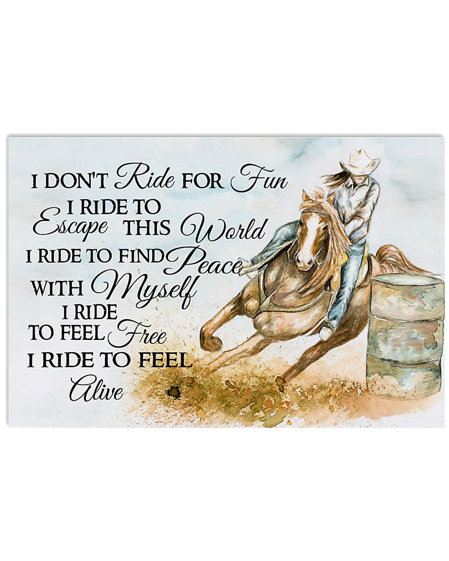 I Do Not Ride For Fun 17x11 Poster