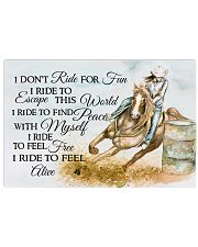 I Do Not Ride For Fun 17x11 Poster front