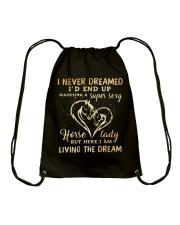 I Am Living The Dream Drawstring Bag thumbnail