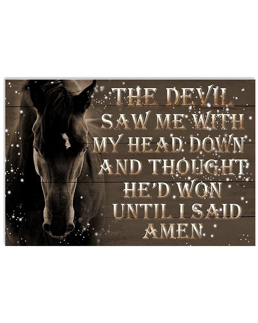 The Devil Saw Me 17x11 Poster