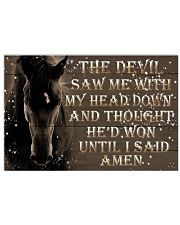 The Devil Saw Me 17x11 Poster front