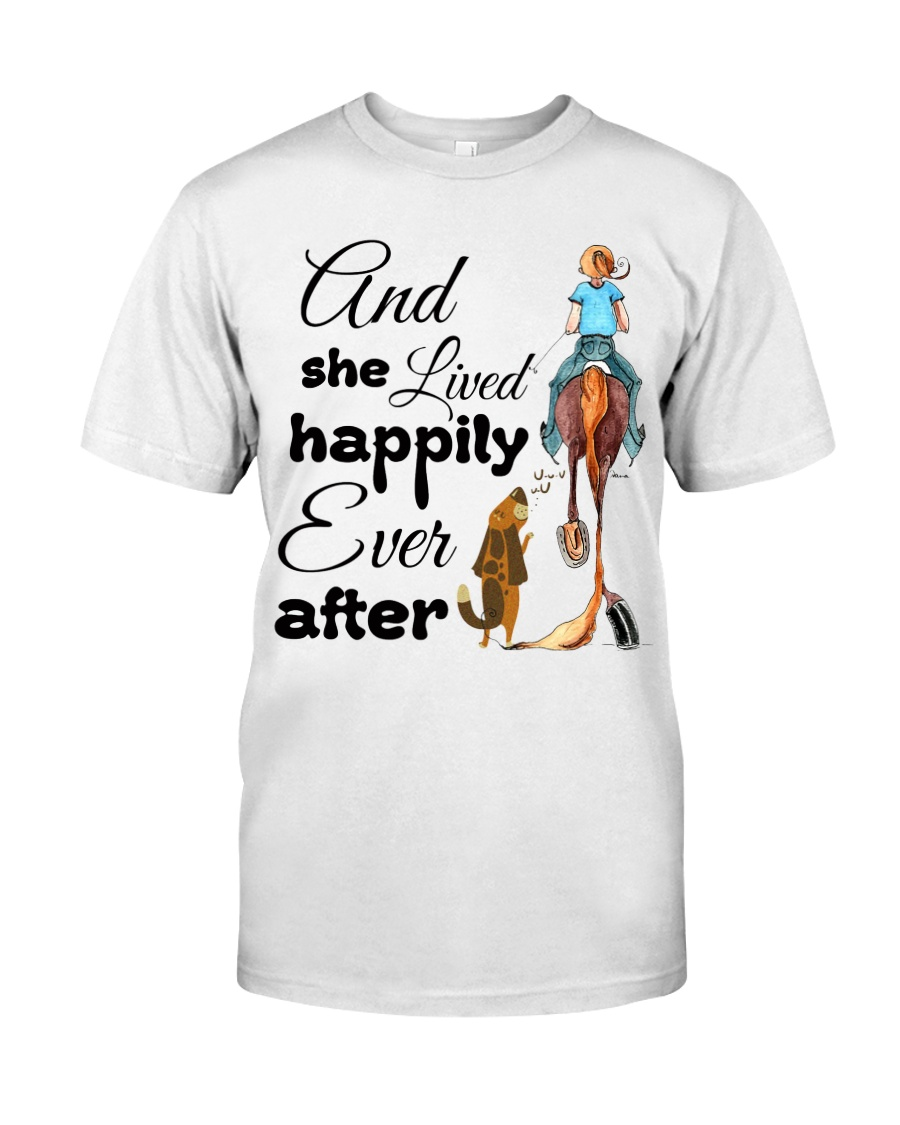 She Lived Happily Classic T-Shirt
