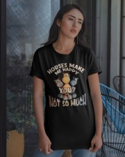 Horses Make Me Happy Classic T-Shirt apparel-classic-tshirt-lifestyle-08