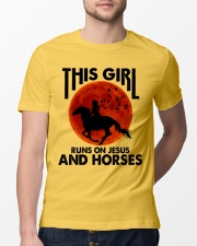 This Girl Runs On Jesus And Horses Classic T-Shirt lifestyle-mens-crewneck-front-13