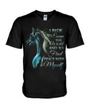 I Ride V-Neck T-Shirt thumbnail