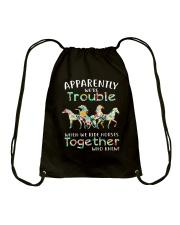 When We Rides Horses Together Drawstring Bag thumbnail