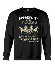 When We Rides Horses Together Crewneck Sweatshirt thumbnail