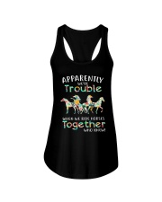 When We Rides Horses Together Ladies Flowy Tank thumbnail