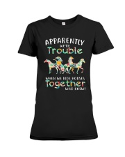 When We Rides Horses Together Premium Fit Ladies Tee thumbnail