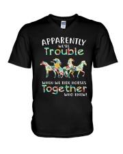 When We Rides Horses Together V-Neck T-Shirt thumbnail