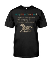 Equine Introvert Classic T-Shirt front