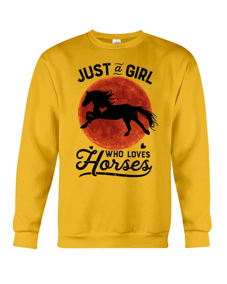 Just A Girl Loves Horses Crewneck Sweatshirt