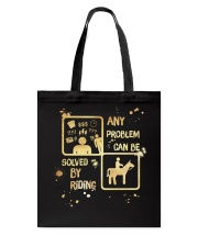 Riding Solves Any Problems Tote Bag thumbnail