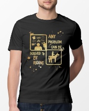 Riding Solves Any Problems Classic T-Shirt lifestyle-mens-crewneck-front-13