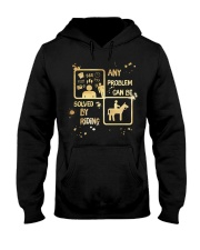 Riding Solves Any Problems Hooded Sweatshirt thumbnail