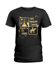 Riding Solves Any Problems Ladies T-Shirt thumbnail