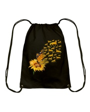 Sunflower And Horses Drawstring Bag thumbnail