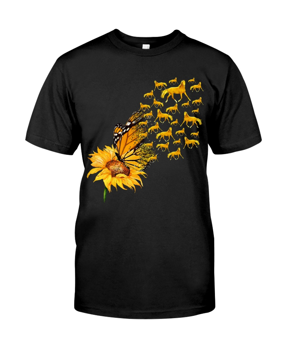 Sunflower And Horses Classic T-Shirt