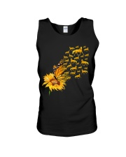 Sunflower And Horses Unisex Tank thumbnail