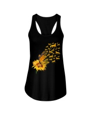 Sunflower And Horses Ladies Flowy Tank thumbnail