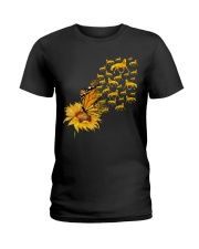 Sunflower And Horses Ladies T-Shirt thumbnail
