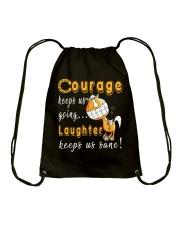 Laughter Keeps Us Sane Drawstring Bag thumbnail