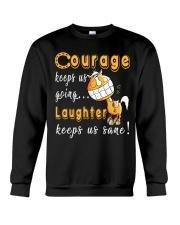 Laughter Keeps Us Sane Crewneck Sweatshirt thumbnail