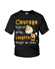 Laughter Keeps Us Sane Youth T-Shirt thumbnail