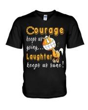 Laughter Keeps Us Sane V-Neck T-Shirt thumbnail