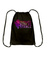 Horses Keep Me Stable Drawstring Bag thumbnail