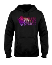 Horses Keep Me Stable Hooded Sweatshirt thumbnail