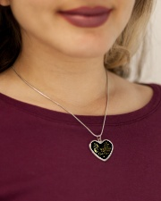 Someone Left The Gate Open Metallic Heart Necklace aos-necklace-heart-metallic-lifestyle-1