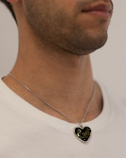 Someone Left The Gate Open Metallic Heart Necklace aos-necklace-heart-metallic-lifestyle-2