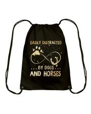 Dogs And Horses Drawstring Bag thumbnail