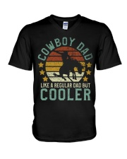 Cowboy Dad V-Neck T-Shirt tile