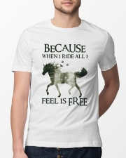 Because When I Ride Classic T-Shirt lifestyle-mens-crewneck-front-13