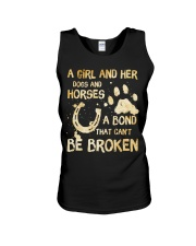 Dogs and Horses Unisex Tank thumbnail