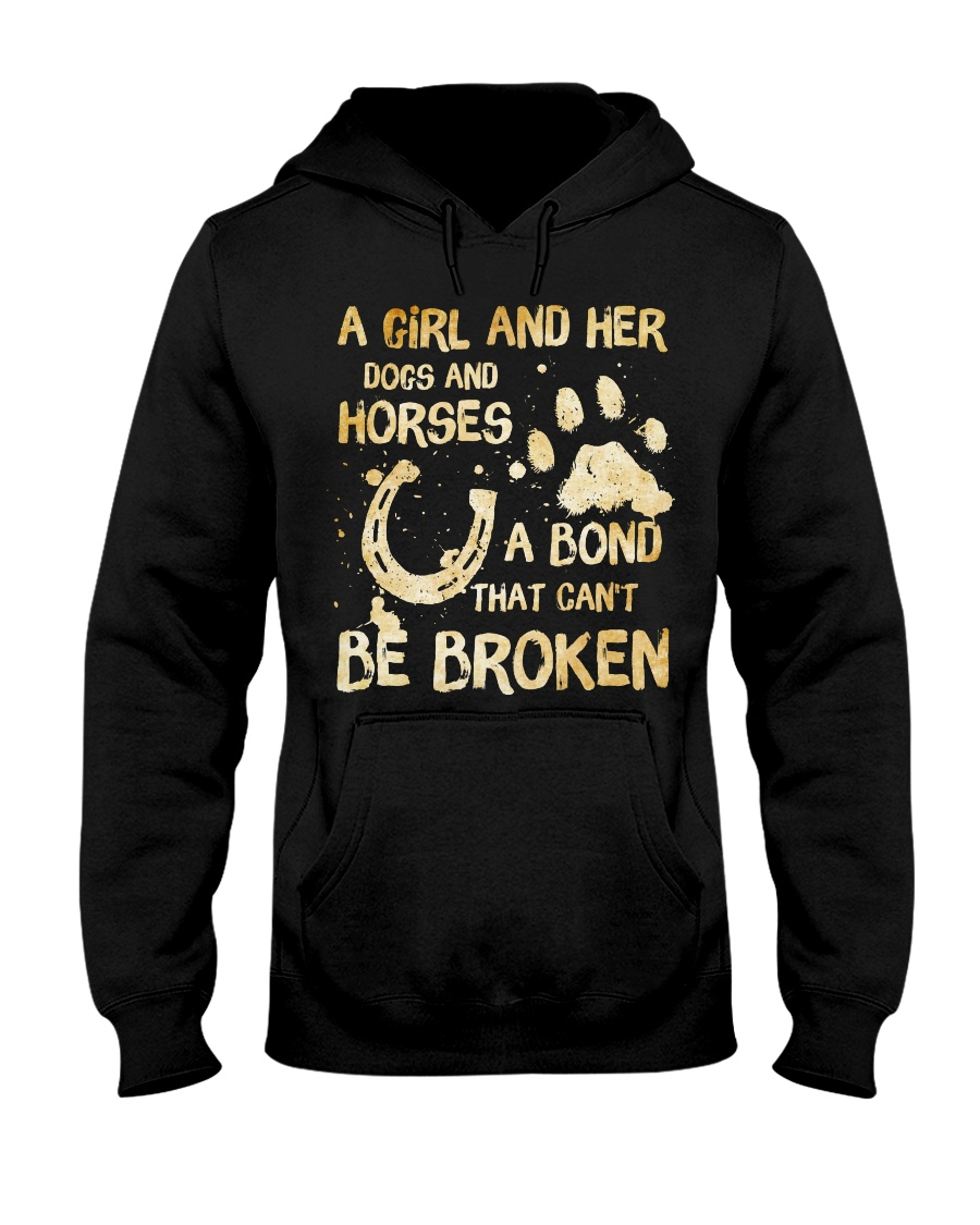 Dogs and Horses Hooded Sweatshirt