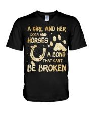 Dogs and Horses V-Neck T-Shirt thumbnail