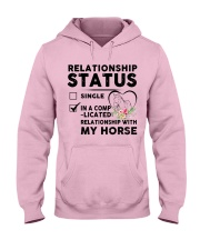 Relationship Status Hooded Sweatshirt front
