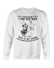 Talk To My Horse Crewneck Sweatshirt front