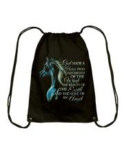 God Made A Horse Drawstring Bag thumbnail
